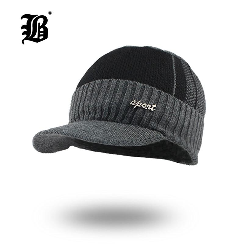 [FLB] Winter Hats Skullies Beanies Hat Winter Beanies For Men Women Wool Caps Balaclava Mask Gorras Bonnet Knitted Hat F18032