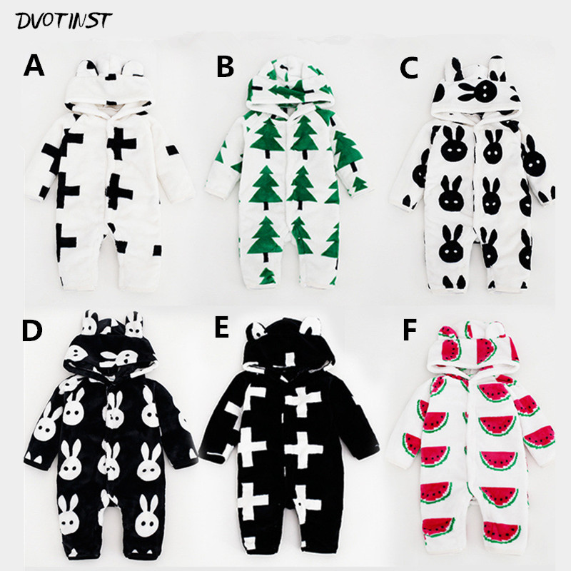 Baby Boys Girls Winter Hooded Rompers Clothes Full Sleeves Outfits Kids Infantil Roupa Toddler Jumpsuit Clothing Costume Pajama unisex baby rompers cotton cartoon boys girls roupa infantil winter clothing newborn baby rompers overalls body for clothes