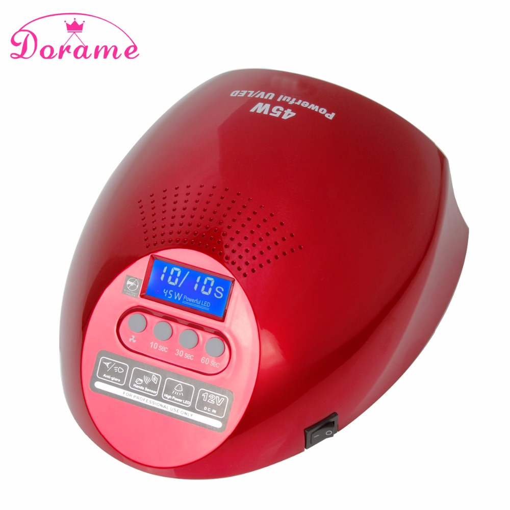 ФОТО Dorame SUN G2 45W UV Lamp Nail Dryer Curing Gel Nail Polish Time 10S/30S/60s Lamp For Nails Manicure Led Lamp Nail Art Tools