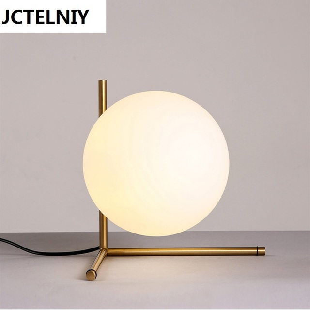 Brief American Style Glass Ball Table Lamp Ofhead Decoration Table Lamp  Bevatrons Lamp