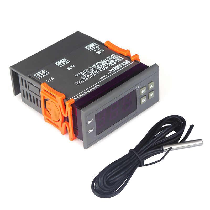 10A 110V Цифровой температурный контроллер тепловой регулятор датчик температуры с датчиком-58 ~ 194 Fahrenheit