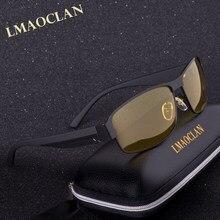2018 Mens Óculos Polarizados Condução Nocturna óculos de Sol Das Mulheres Designer  De Marca Lente Amarela Night Vision Goggles Ó.. 60707ce681