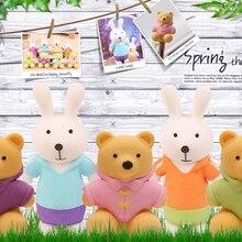Новое поступление, набор ластиков с милым медведем и кроликом, Школьный набор ластиков в Корейском стиле, продвижение резиновых ластиков, минимальный заказ, 8 штук в партии