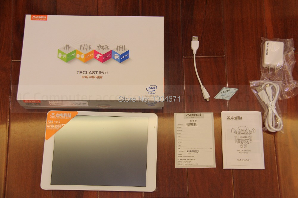 NOUVEAU! Arrive Teclast X98 air ii Quad Core 9.7inch Tablet PC Z3736F 2G LPDDR3 32G eMMC 2048X1536 HDMI