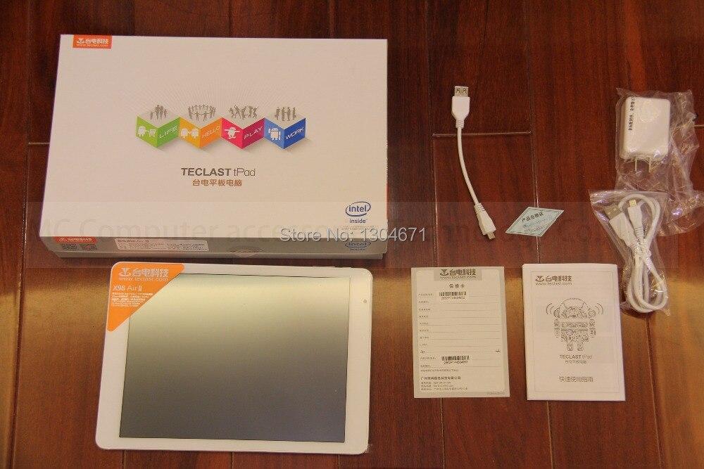 NOUVEAU! arrive Teclast X98 air ii quad-Core 9.7 pouces Tablet PC Z3736F 2G LPDDR3 32G mem 2048X1536 HDMI