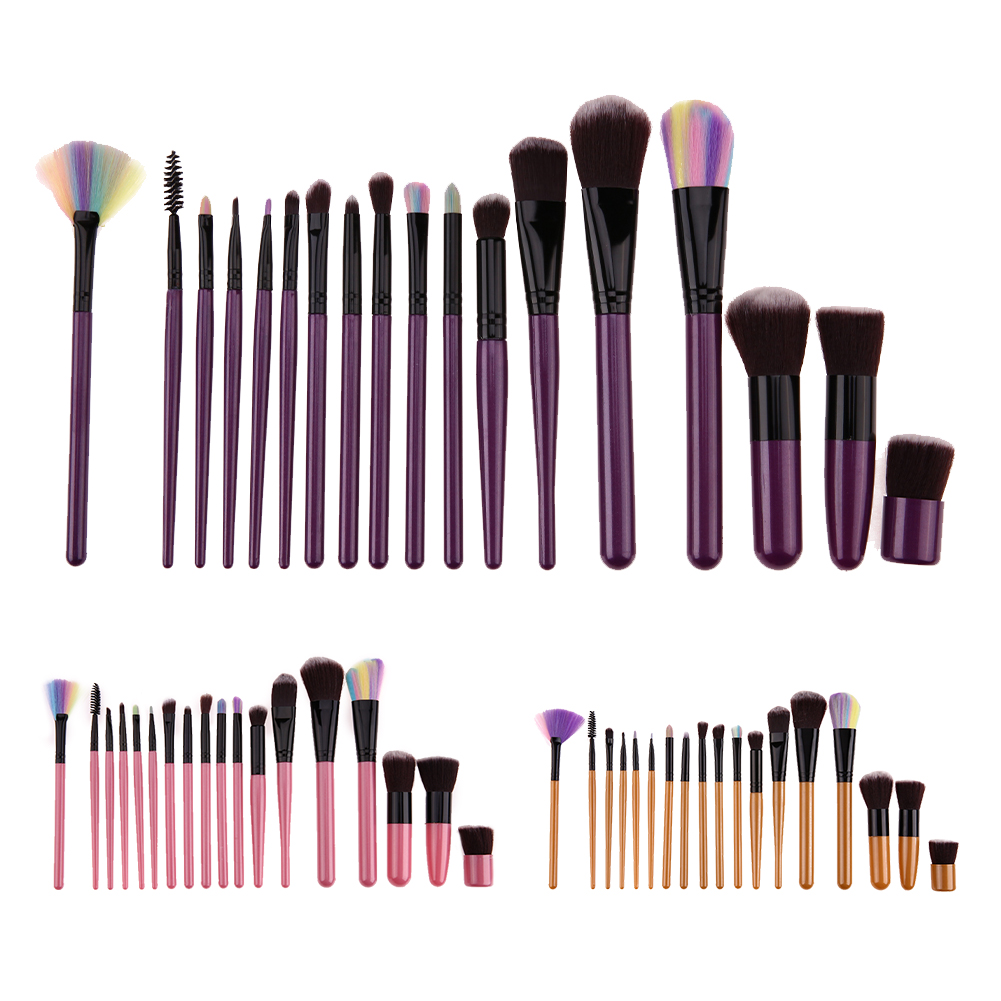 18Pcs/set Makeup Brush Pro Blush Foundation Power Contour Eyeshadow Eyeliner Lip Blending Highlight Brushes Cosmetic Beauty tool makeup brushes set tool 18 15pcs brushes