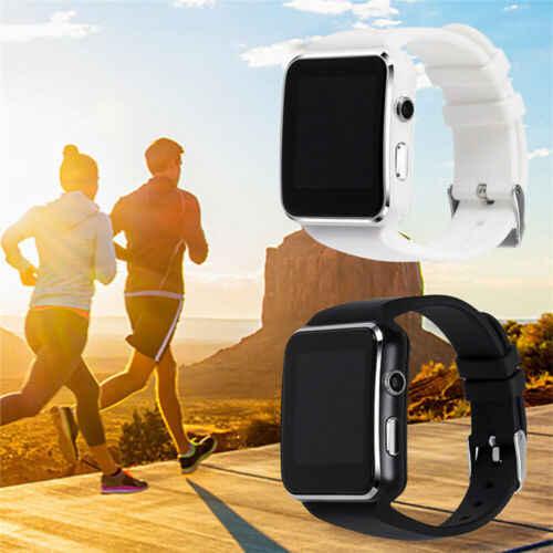 X6 מעוקל מסך Bluetooth Smartwatch TF SIM מצלמה גברים נשים שעון חכם עבור אנדרואיד IOS iPhone סמסונג אופנה שעונים