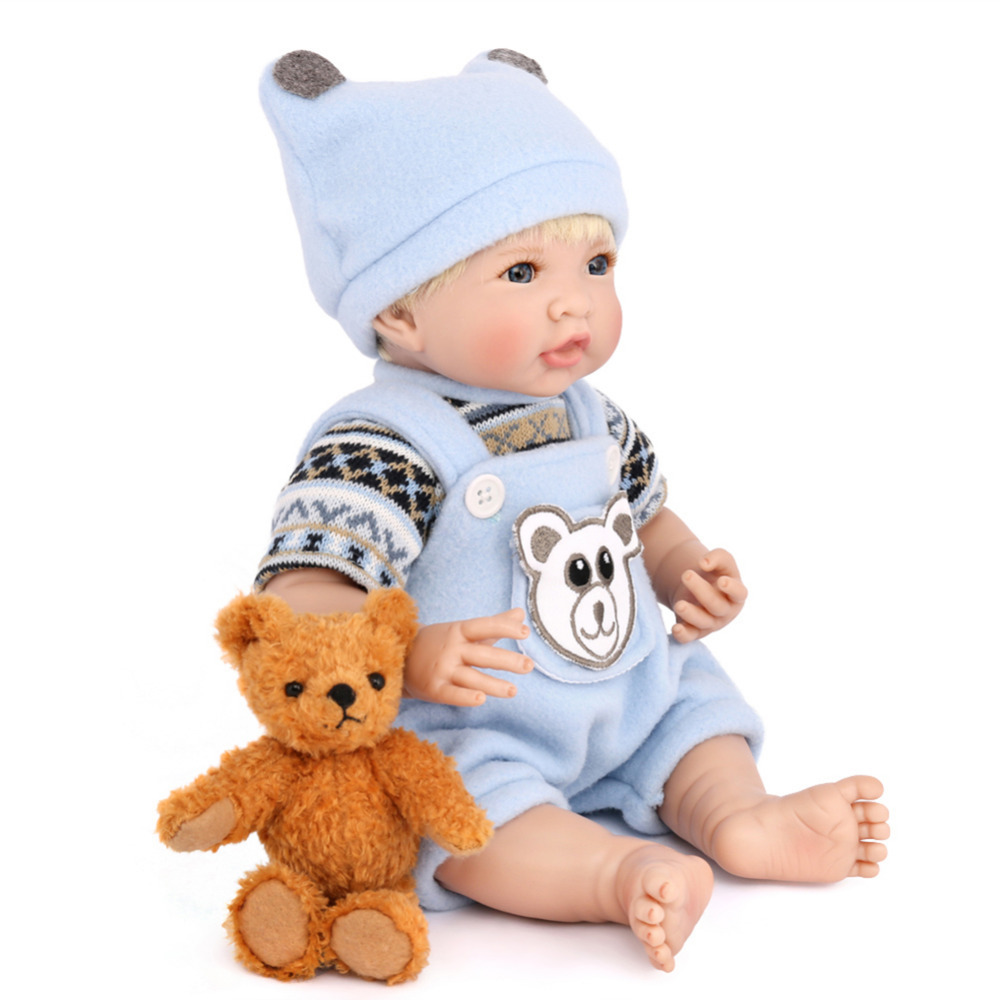 MINOCOOL Kids Realistic Reborn Baby Doll Soft Lifelike toddler Baby Toys for Boys Girls Birthday Gift babies Accompanying Toy scary lifelike soft rubber hanging bat toys pair