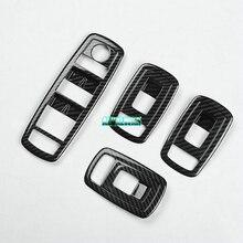 ABS Carbon fiber glass lifter decorative cover trim fit for maserati ghibli  2014-2017 LEVANTE 2016 2017 Quattroporte 2013-2017