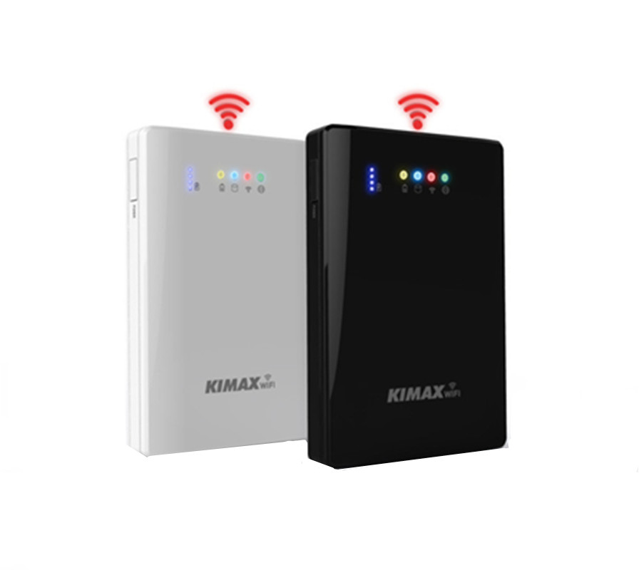 2.5 Pouce WiFi Disque Dur Box Banque Mobile de Puissance 4000 mAh Externe HDD Cas Wifi Répéteur Wifi extender de stockage bas