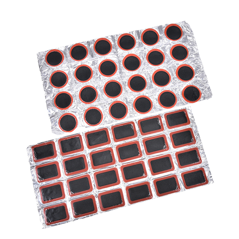 Bike Repair Kits 24Pcs/Tire Tyre Tube Rubber Puncture Patches Set Cycling Puncture Patch Bicycle Motor Bike(not Contain Glue)