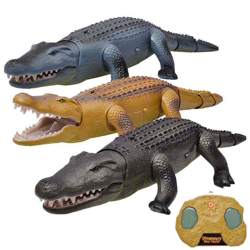 Electric remote controlled crocodile toy for children Walking luminous sounded animal model