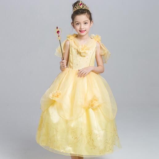 110 150cm princess belle halloween costume kid child girl birthday party carinvalbeauty and the beast