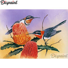 Dispaint Full Square/Round Drill 5D DIY Diamond Painting Animal bird scenery 3D Embroidery Cross Stitch Home Decor Gift A12310 dispaint full square round drill 5d diy diamond painting teacup bird scenery 3d embroidery cross stitch 5d home decor a18408