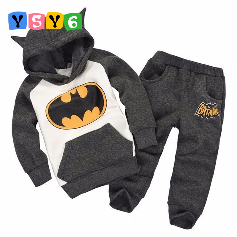 2018 New Batman Baby Girls Boys Clothing Sets Kids Autumn Spring Casual Cotton Suit Children Hoody Coat Tshirt Pants Clothes Set new batman boys clothing sets spring cotton captain america baby clothes suit children shirts pants 2 pieces suit kids clothing