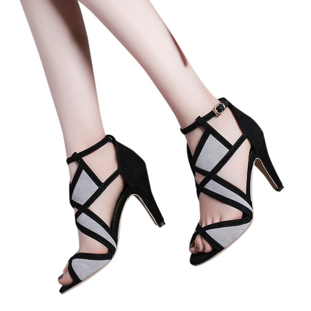 Luxury Sexy High Heel Elegant Party Shoes Solid Rainbow Women Ladies Color Matching High Heels Non-Slip Nightclub Stiletto Shoes 1