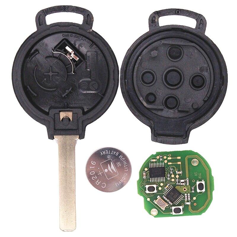 KEYECU 10x434 МГц 7941 чип новая замена 3 кнопки дистанционного автомобиля брелок для Mercedes Benz Smart 451 - 2