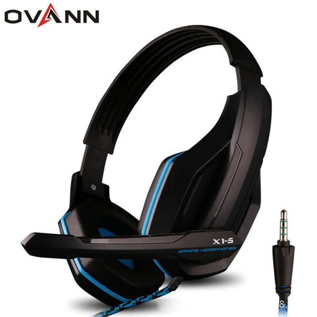 Ovann 3.5mm único plug professional gaming headset de alta fidelidade de graves fone de ouvido com microfone para sony playstation4 ps4 xbox one pc