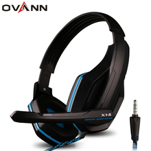 Big sale Ovann 3.5mm Plug Professional HIFI Bass Gaming Headset Earphone Headphone with Microphone for Sony PlayStation 4 XBOX ONE PC