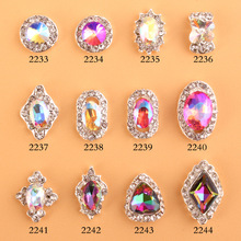 2016.7 NEW ! 50PCS/Lot 3D multicolored Nail Art Tips Gems Crystal Glitter Rhinestone DIY Jewelry Decorations 2233-2244