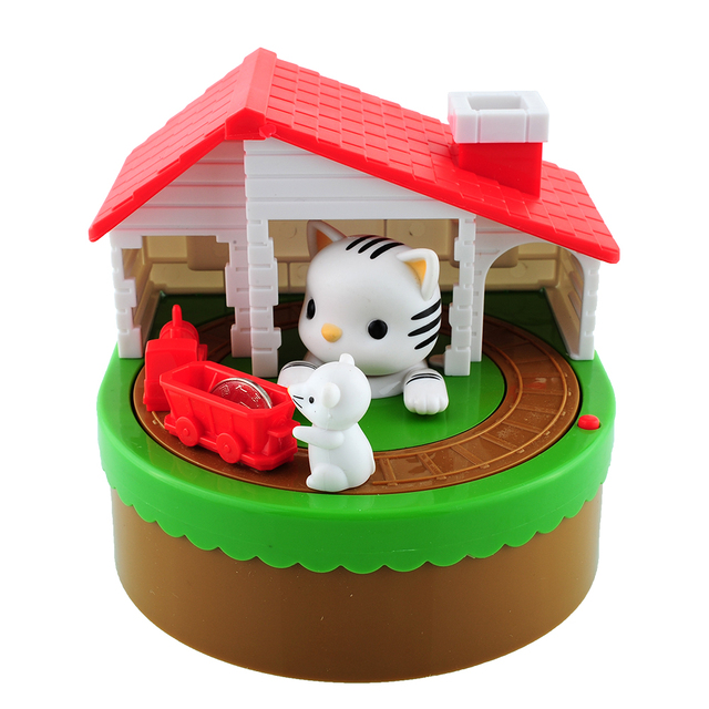 2016*Itazura Automated Stealing Coin Cat Mouse Coins Penny Piggy Bank Saving Box Kid Child Present Gift