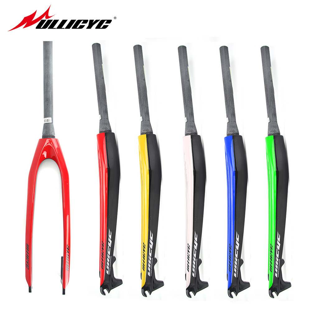 Ullicyc Disc Brake Tapered Bicycle Hard Fork Brakes 26/27.5/29 Inch Mountain Bike carbon front Fork Bike Accessories QC555 magnesium aluminum alloy bicycle front fork mountain bike front shock 26 27 5bicycle suspension fork disc brakes mtb fork