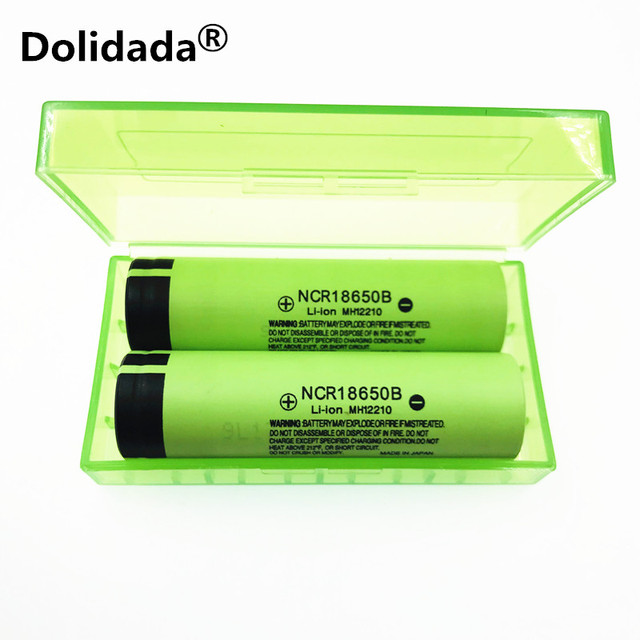 Dolidada 100% original 18650 battery 3400mah 3.7v lithium battery for panasonic NCR18650B 3400mah 3.7V flashlight battery. 3