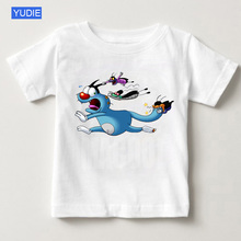 2019 New short-sleeved Child Oggy and childrens summer cockroaches T-shirt boys girls T long shirts YUDIE