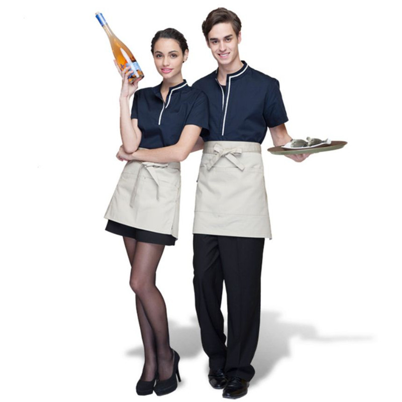 09892c09785 2015 Fashion Summer Work Wear Waiter Clothes Restaurant Uniform Custom  Personalized Print Embroiery Waiter Shirt Free Shipping on Aliexpress.com