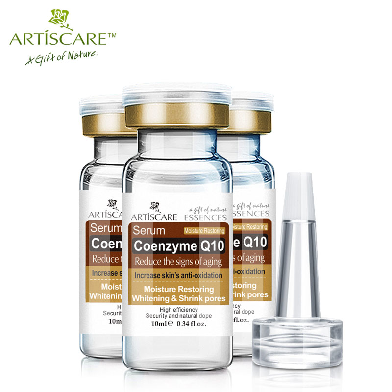 ARTISCARE Coenzyme Q10 Serum anti aging whitening and minimize pores essence tighten and flabby skin Best Skin Care cream 3Pcs 3bottles lot coenzyme q10 soft capsule youth improvement antioxidant green health product