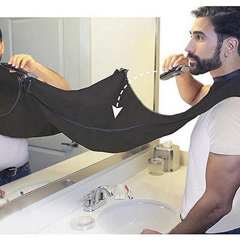 Hot Sale Bathroom Accessories 1Pcs Male Shaving Cloth Shaved Beard Shape Bib Beard Apron Men Haircut Apron Cleaning Protecter-16