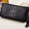Moda mulheres carteiras bolsas femininas crocodilo longo carteira de couro genuíno embreagem carteira feminina saco de dinheiro de bolso preço em dólar
