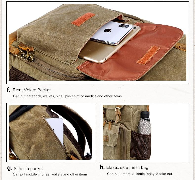 Batik Canvas Waterproof Photography Bag Outdoor Wear-resistant Large Camera Photo Backpack Men for Nikon/Canon/ Sony/Fujifilm