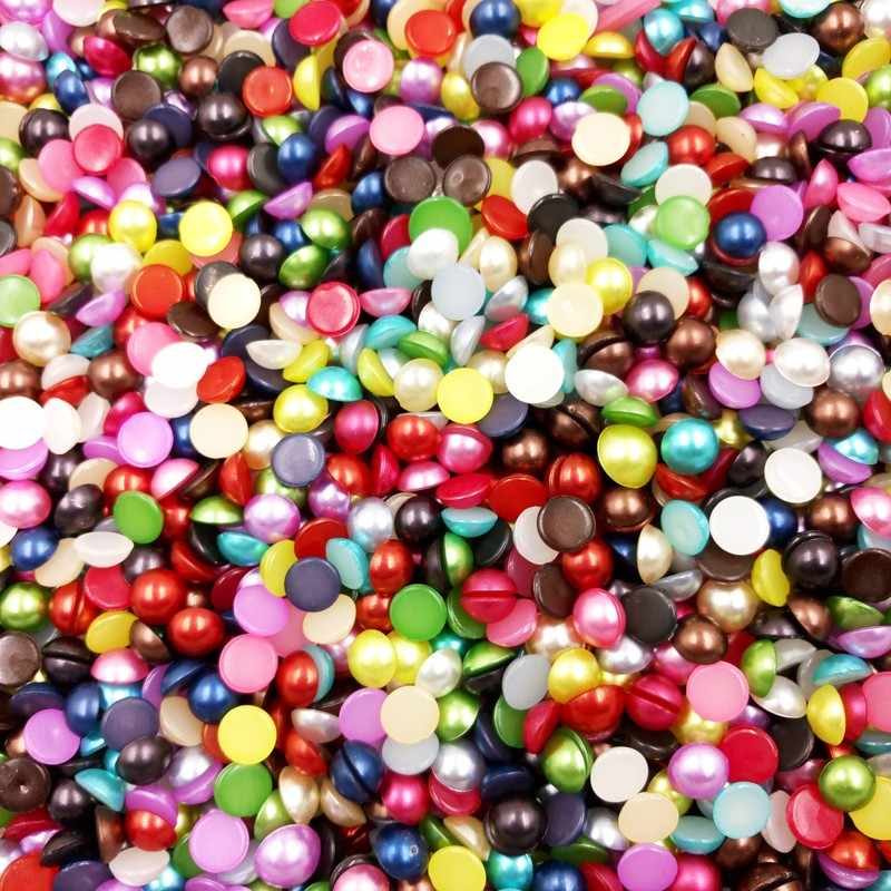 3mm Acrylic Nail Art DIY Crafting Accessory Imitation Pearl for Jewelry Making Imitation Pearl Phone Decoration 500pcs 5ZSH761