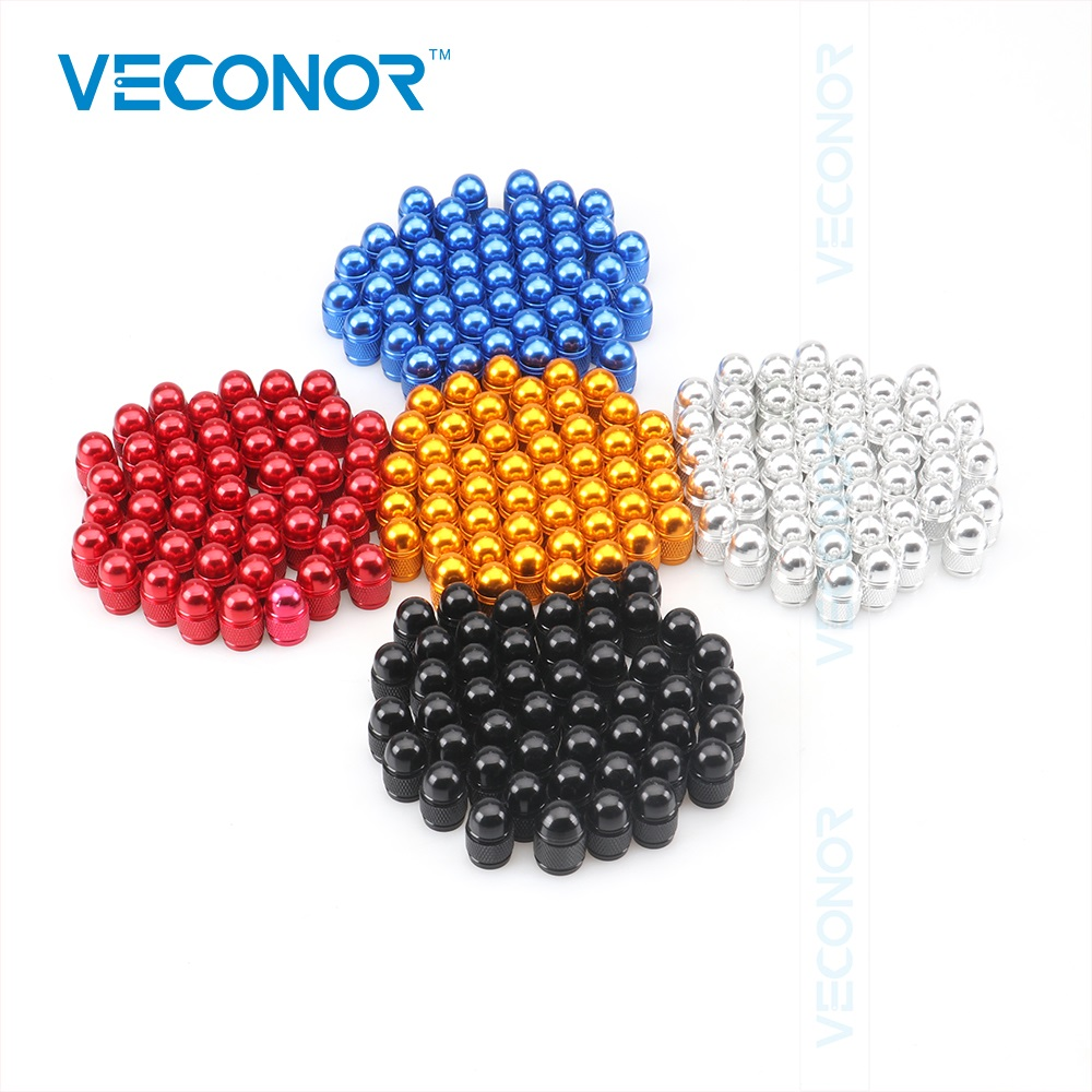 240PCS Multi Colors Aluminum Bullet Style Auto Car Tyre Valve Caps Motorcycle Bicycle Wheel