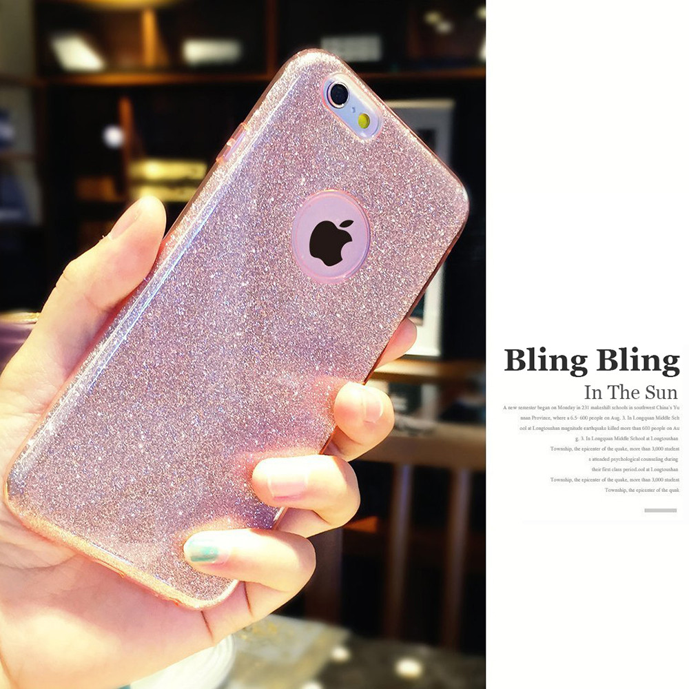 Tiegem Phone Cases For Iphone 6 Plus Bling Glitter Gradient Case TPU  Silicone+PC Women ... 3ea50bf9c0