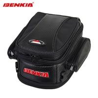 BENKIA Motorcycle Bags Helmet Tail Bags Motorcycle Luggage Bags Moto Handbag Black Motorbike Travel Touring Riding Saddlebag