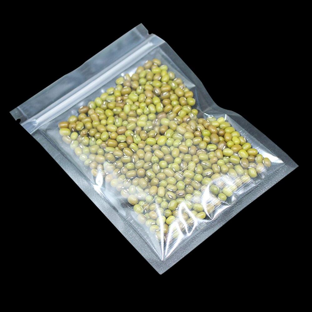 200pcs Lot Clear Plastic Zip Lock Food Packaging Bag