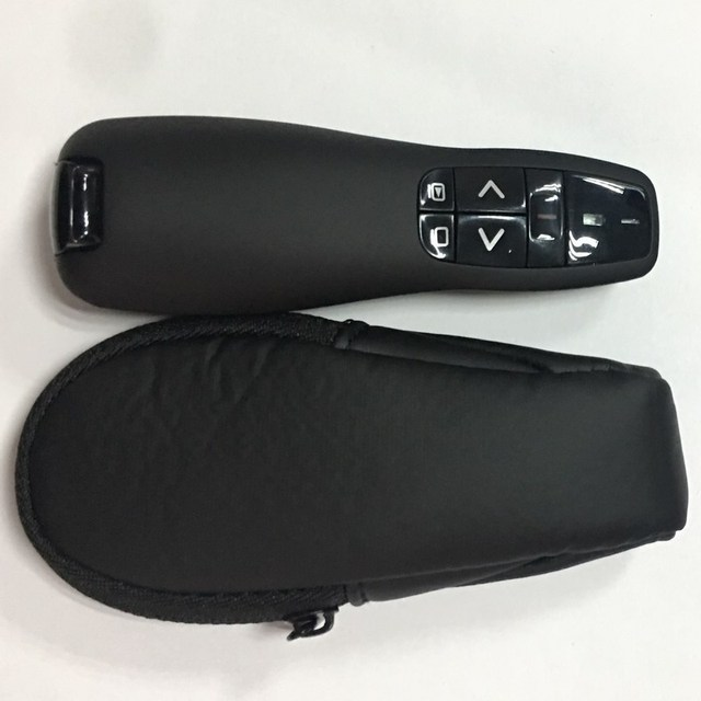 PPT pointer Presenter with Red Laser, 2.4 G USB Remote Control,  Power Point controller replacement for Logitech R400