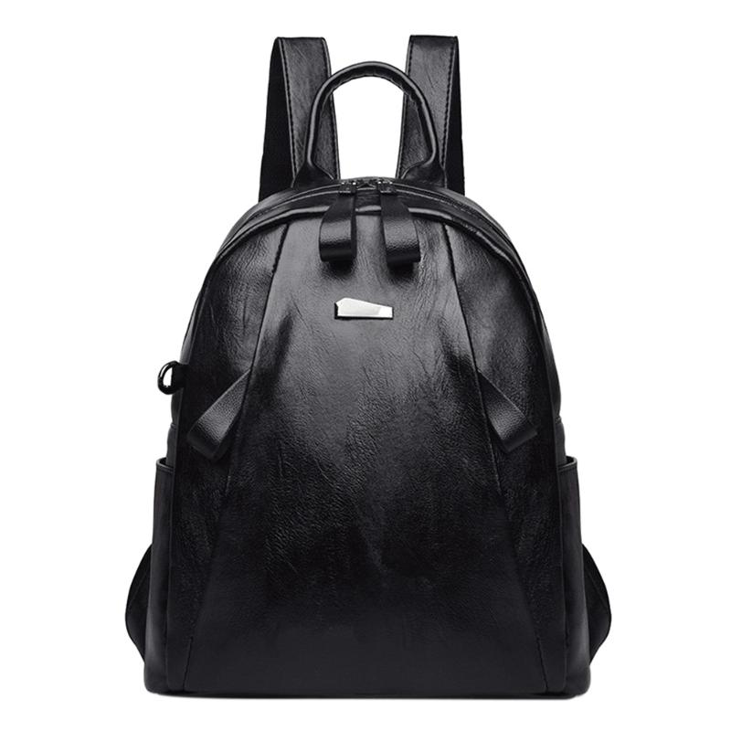 Women Fashion Luxury Backpack 2018 New Solid High Quality PU Leather Backpack Elegant and Simple School Bags For Teenagers Girls