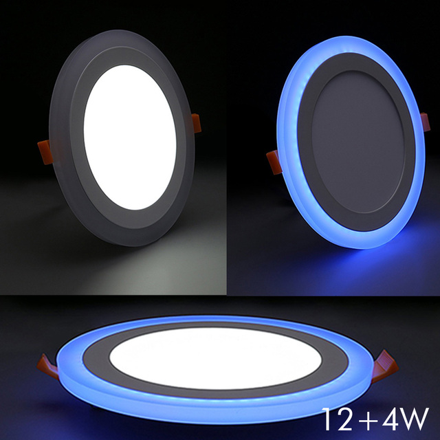 home office hotel room indoor ceiling round shape 12 4w double color led panel downlight buy shape home office