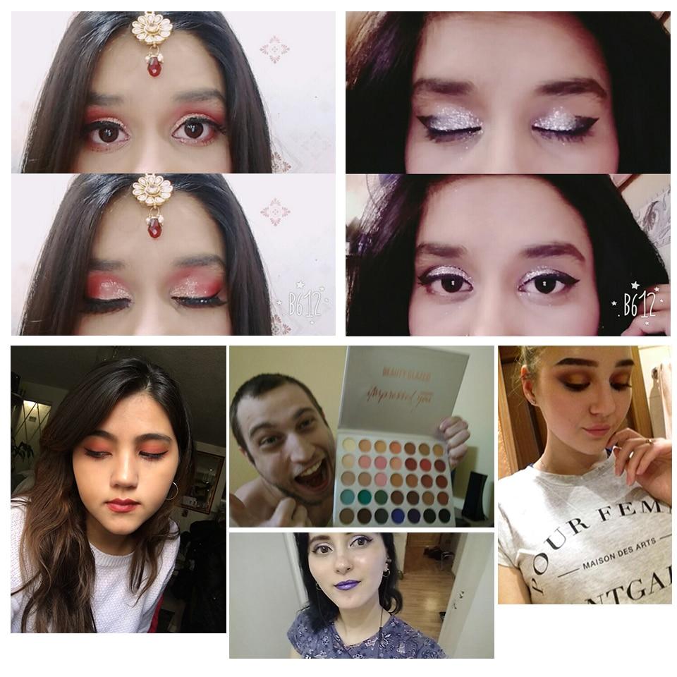 Beauty Glazed 35Color eyeshadow pallete Glitter Makeup Matte Eye shadow Long-lasting make up palette maquillage paleta de sombra 4