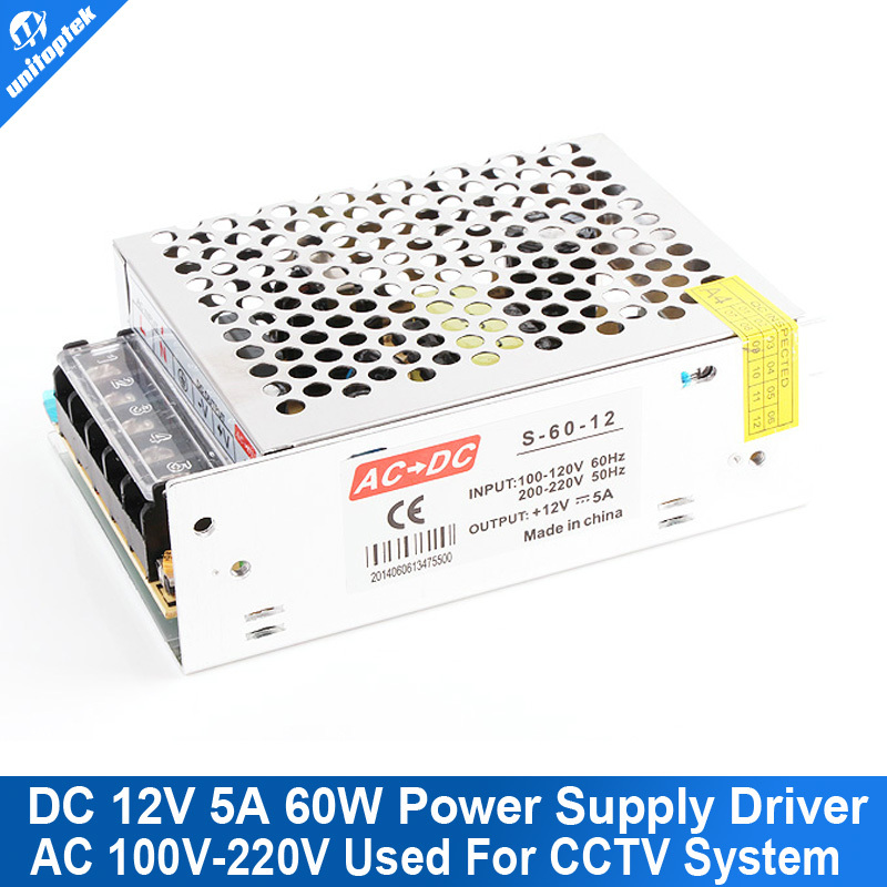 Mini House 12V 5A 60W DC Switching CCTV Power Supply Transformer AC 100V-220V Input With 1Ch Output For LED CCTV Camera DVR bird cage swallows scrapbook diy photo cards account rubber stamp clear stamp transparent handwork art seal school kid gift