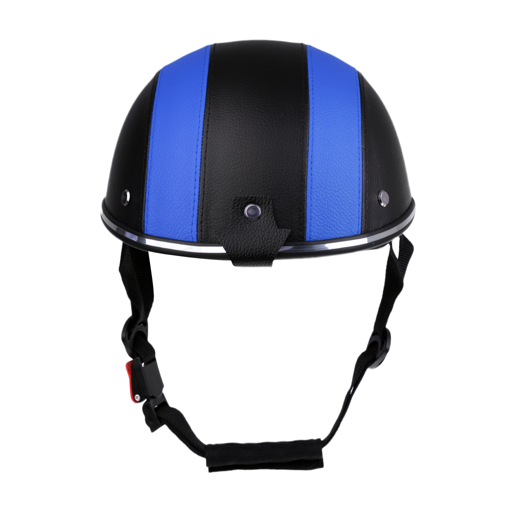 Motorcycle Helmet Half Face Helmet Half Open Face Bike Cycling Helmet Protective ABS Baseball Cap With PU Hat Visor