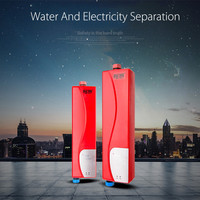 Electric Water Heater Instant Shower Tankless Water Heater For Home Kitchen Bathroom Water Heating Double Shell EU Plug