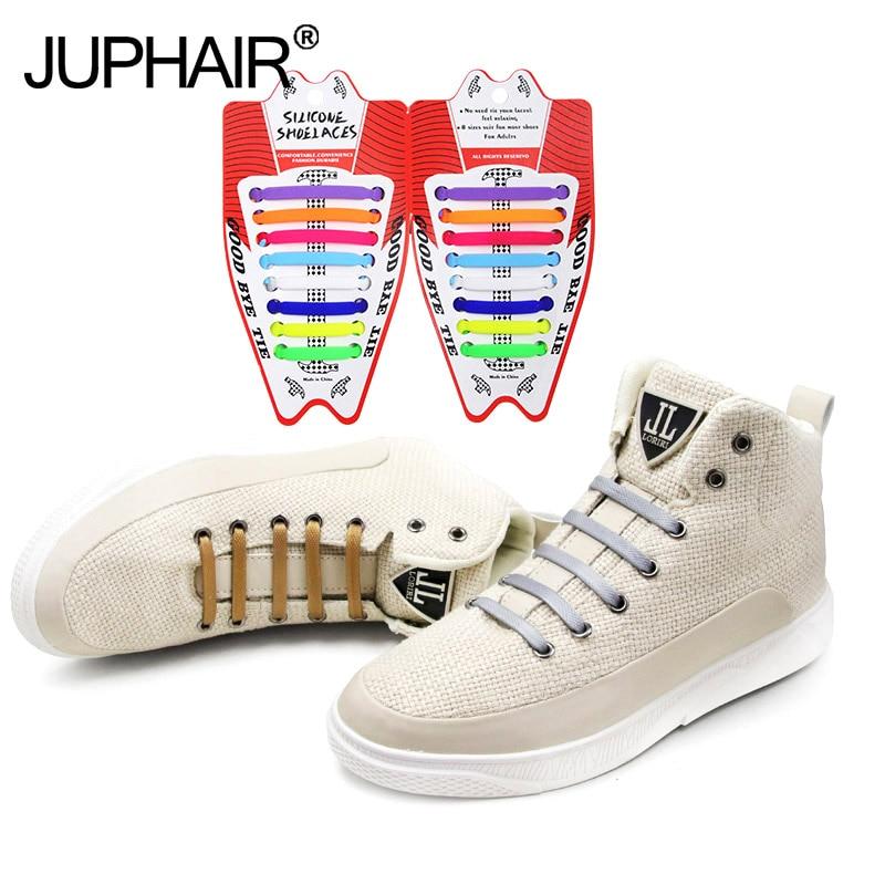 92f946a7c6570 12 Sets 176 Pcs Women Men Hammer Shape Shoelace Creative Elastic Silicone  Laces Sports Running Shoes Lazy Sneaker Flat Shoelaces