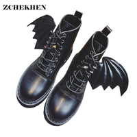 2017 Autumn Breathable Wing Fly Women Motorcycle Boots Roud Toe Lace Up Side Ladies Martin Boots