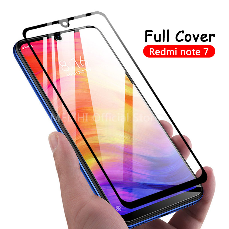 2Pcs-Premium-Tempered-Glass-For-Xiaomi-Redmi-Note-7-Full-Cover-9H-Protective-film-Screen-Protector