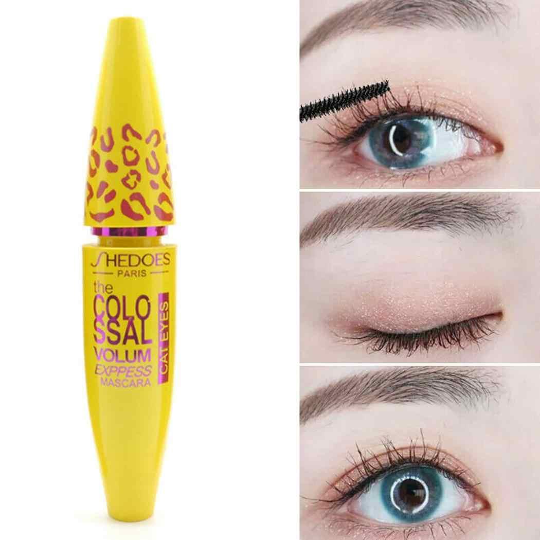 Объемная тушь для завивки и густой глаз Мода желтый макияж ресниц 10,7 мл Comestic вечерние, Коктейльные, повседневные