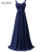 ANGELSBRIDEP Long New Bridesmaid Dresses Under 50 Long Chiffon Spaghetti Straps Special Occasion Party Formal Gowns(China)